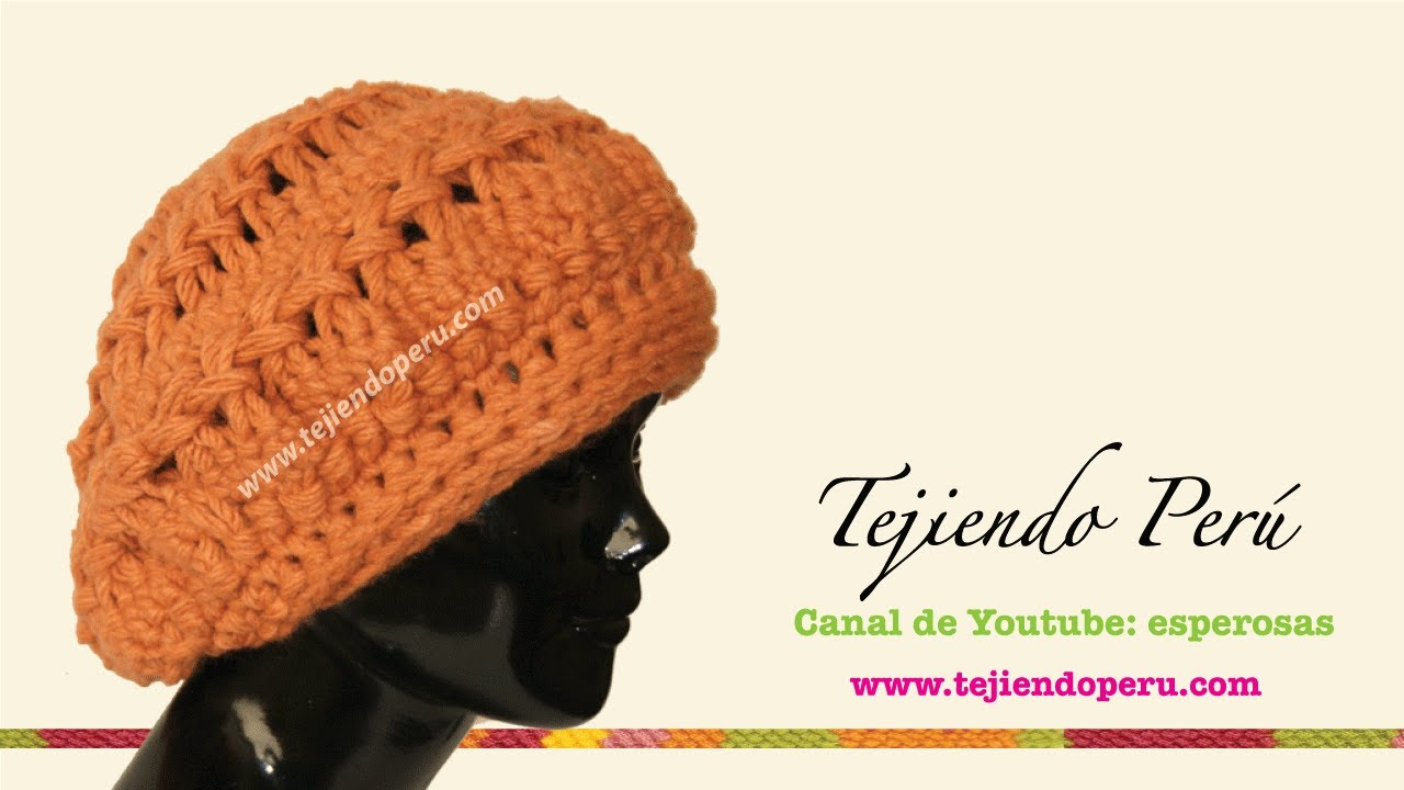 Boina tejida en horquilla (Hairpin lace ) Parte 1 - YouTube
