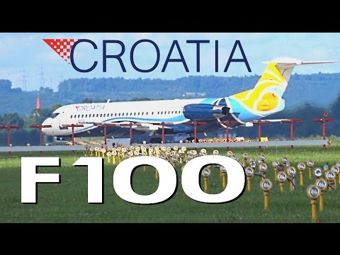 Croatia Airlines Fokker 100 |9A-BTE| Takeoff @ Zagreb Airport Pleso
