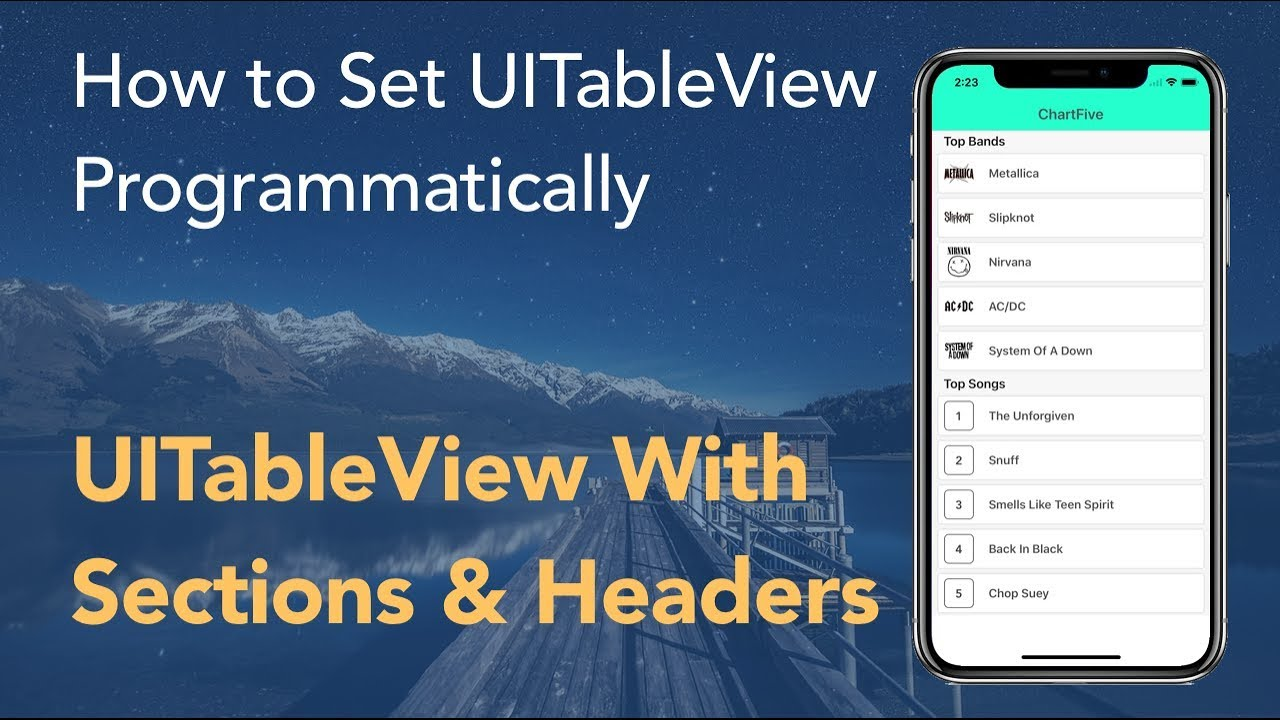 Custom Cell, Headers, Sections - How to Set UITableView