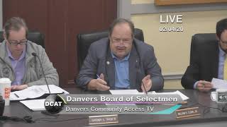 Board of Selectmen: 2/4/20 - Danvers, MA