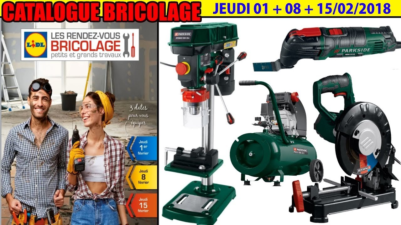 catalogue lidl bricolage f vrier 2018 compresseur tron onneuse m taux parkside perceuse. Black Bedroom Furniture Sets. Home Design Ideas