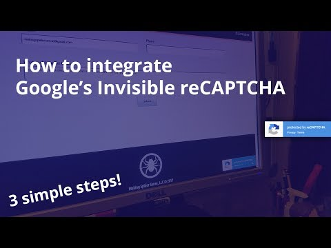 Integrate Google's Invisible ReCAPTCHA (3 Simple Steps)