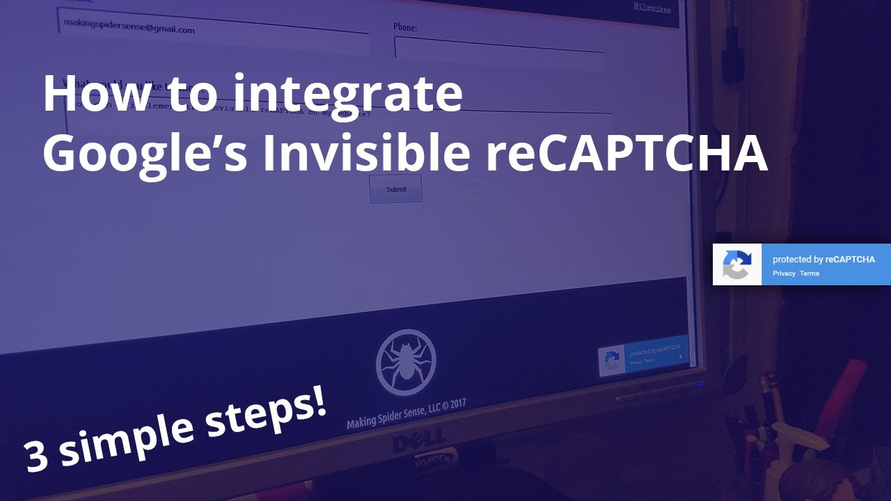 integrate google s invisible recaptcha 3 simple steps