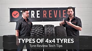 The different types of tyres available for 4x4's - HT, AT and MT