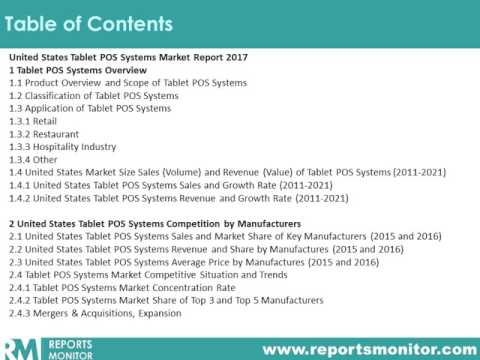 United States Tablet POS Systems Market Report 2017    Reports Monitor