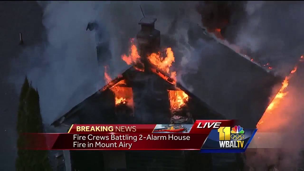 Crews fight two-alarm house fire in Mount Airy