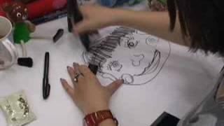 柳原可奈子を描いてみました.