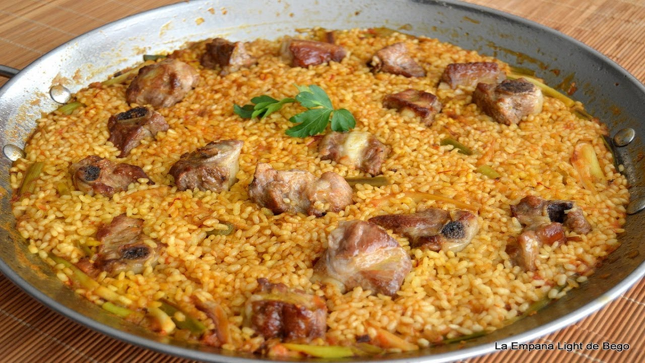 Arroz Con Costillas Y Ajos Receta Tradicional Youtube