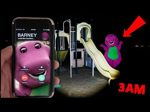 (BARNEY IS HAUNTED?!) CALLING BARNEY ON FACETIME AT 3AM | BARNEY FOUND IN A PLAY PLACE AT 3AM