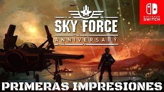 Sky Force Anniversary | Switch | En Español | Primeras Impresiones