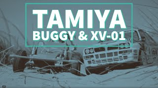 Tamiya RC XV-01 Rally Lancia Delta & Fighting Buggy on the Beach • #84389 • #58569 • HD