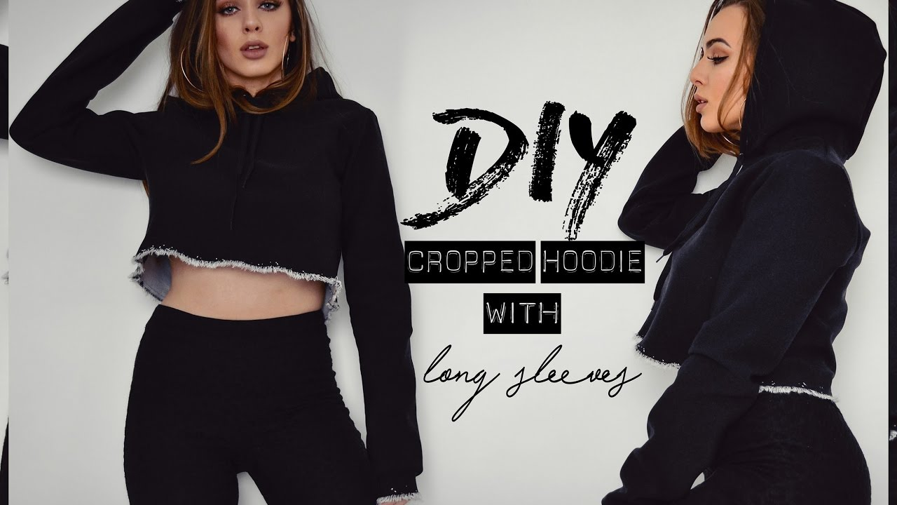 Diy Cropped Hoodie With Long Sleeves Tijana Arsenijevic