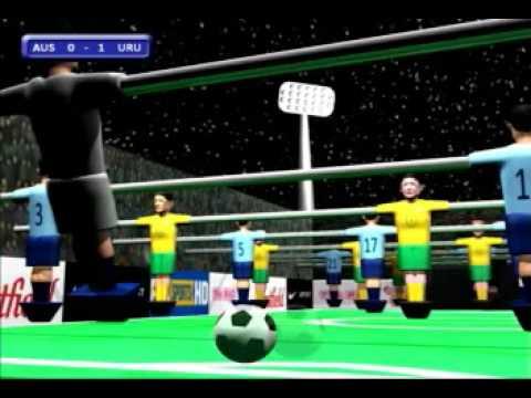 Australia V Uruguay: World Cup Qualifier - 3D Table Soccer Animation