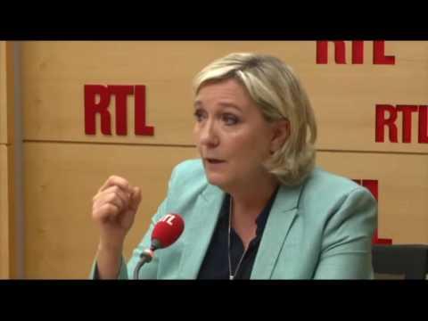 Marine Le Pen la #sécurité des Français la #Flat Taxe #LoiTravail RTL 12 07 2017