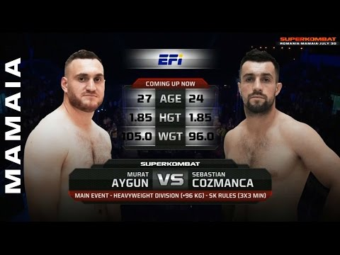 Murat Aygun (Turkey) vs Sebastian Cozmanca (Romania) - Superkombat  Mamaia July 30th