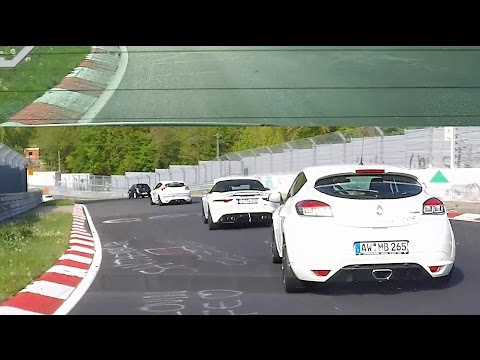 Megane RS Crew + Jaguar F-Type - Nürburgring Nordschleife in Traffic