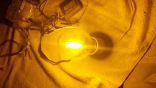 PRUEBA DE LAMPARA DE 150 WATTS DE VAPOR DE SODIO CON BALASTRO ELECTROMAGNETICO