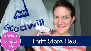 Thrift Store Clothing Haul - {Look for Less Collab}
