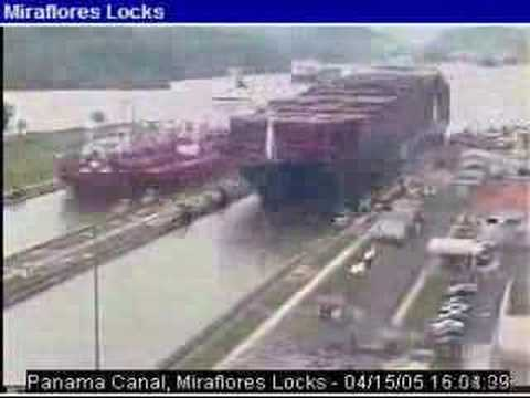 Accelerated Webcam Miraflores Lock (Panama Canal)