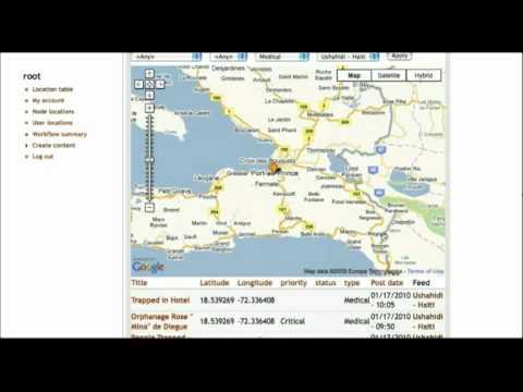 CrisisCamp Haiti - Silicon Valley: UN-SPIDER GeoRSS Case Tracker