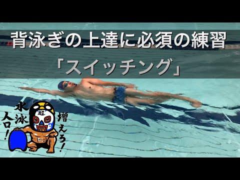 #370 背泳ぎの上達に必須の練習「スイッチング」【水泳】
