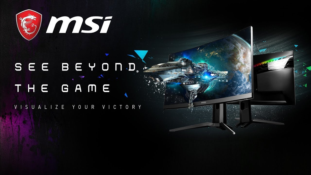 See Beyond the Game, Visualize Your Victory : New MAG Series Curved Gaming LED monitor | MSI