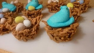 Easter Chocolate Bird's Nest Cookies
