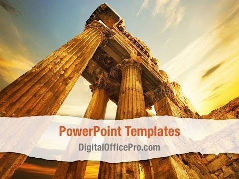 Roman Columns Powerpoint Template Backgrounds - Digitalofficepro