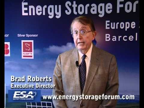 Brad Roberts, Electricity Storage Association @ Energy Storage Forum 2010 Barcelona Part 3