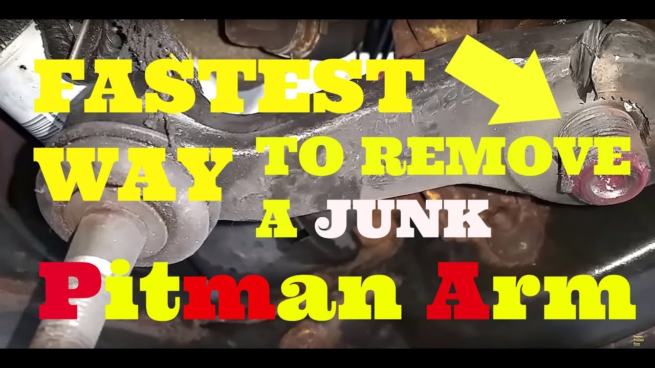 How to remove a stuck pitman arm steering arm it will fall right off