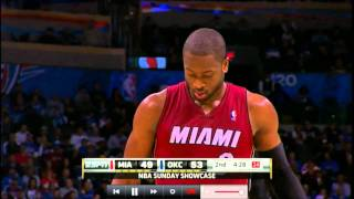 "Miami Heat vs. Oklahoma City Thunder ""Dwyane Wade Highlights """