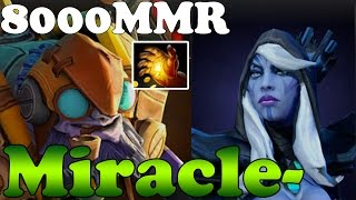 Dota 2 - Miracle- 8000MMR Plays Tinker with HAND OF MIDAS and Drow Ranger - Ranked Match Gameplay