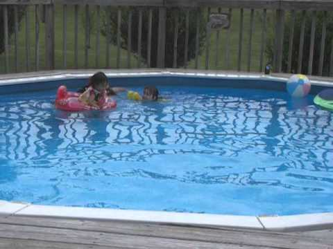 Sabrina Baby Savannah Racing In Swimming Pool Youtube