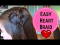 Double Valentine's Heart Braid -  Easy Girls Hair Tutorial