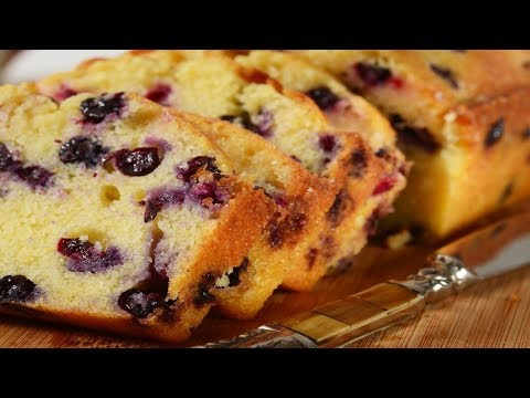 Lemon Blueberry Bread Recipe Demonstration - Joyofbaking.com