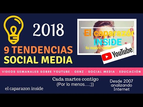 Tendencias Social Media - Redes Sociales - Cultura digital 2018