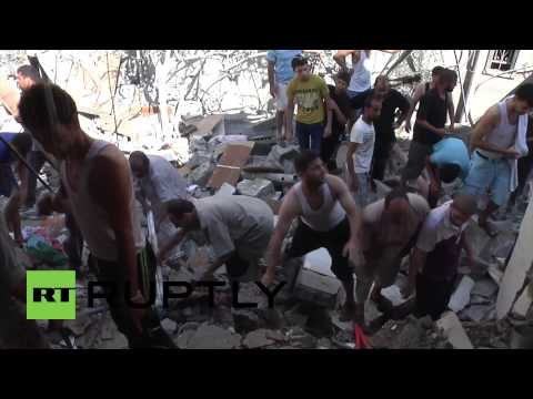 State of Palestine: Search for bodies follows Gaza homes destruction