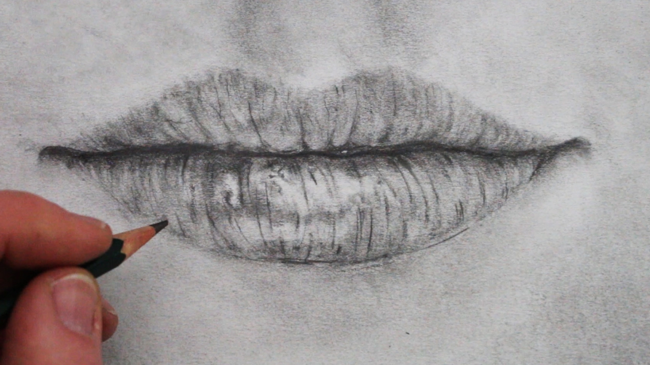How to draw a mouth and lips step by step youtube