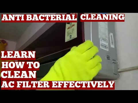 How To Clean Voltas Split AC Indoor Unit Air Conditioner Filter At Home Video-Diys Cleaning