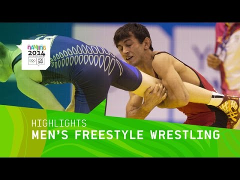 Men's Freestyle Wrestling - Highlights | Nanjing 2014 Youth Olympic Games