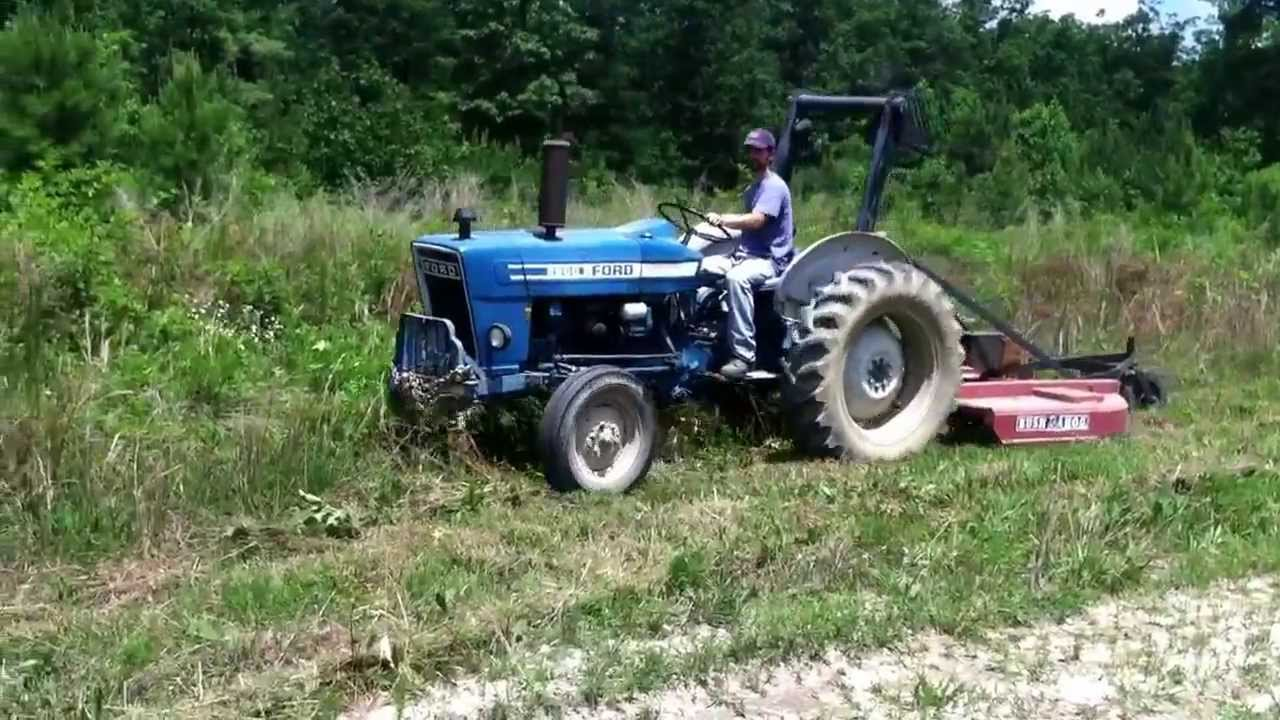 First Run Ford 2600 With Bush Hog Model 285 Youtube