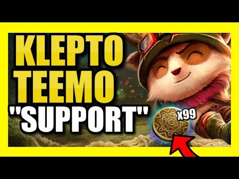 INFINITE MONEY! EASIEST MAX GOLD EVER | KLEPTO TEEMO SUPPORT! | League of Legends Season 9 thumbnail
