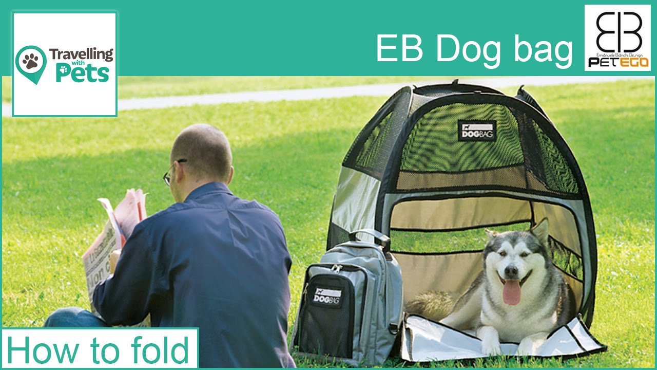 EB DogBag pet pop up tent - How to fold & EB DogBag pet pop up tent - How to fold - YouTube
