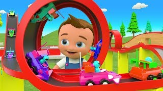 Racing Cars Toy Set - Little Babies Fun Play with Toy Cars 3D Learning Numbers + More Kids Videos