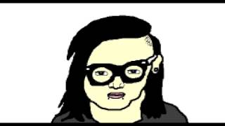 every skrillex song played at the same time: now in glorious midi quality.