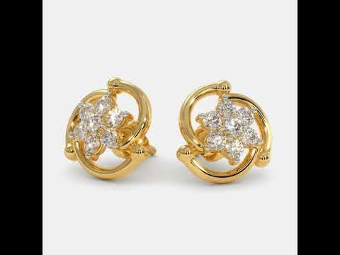Dangle Diamond Earrings (platinum, white gold, yellow gold, pink gold and other gemstones