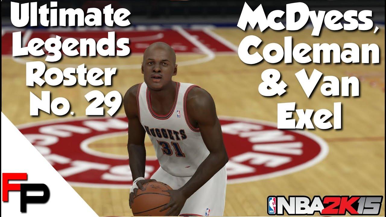 NBA 2K15 Antonio McDyess Derrick Coleman & Nick Van Exel