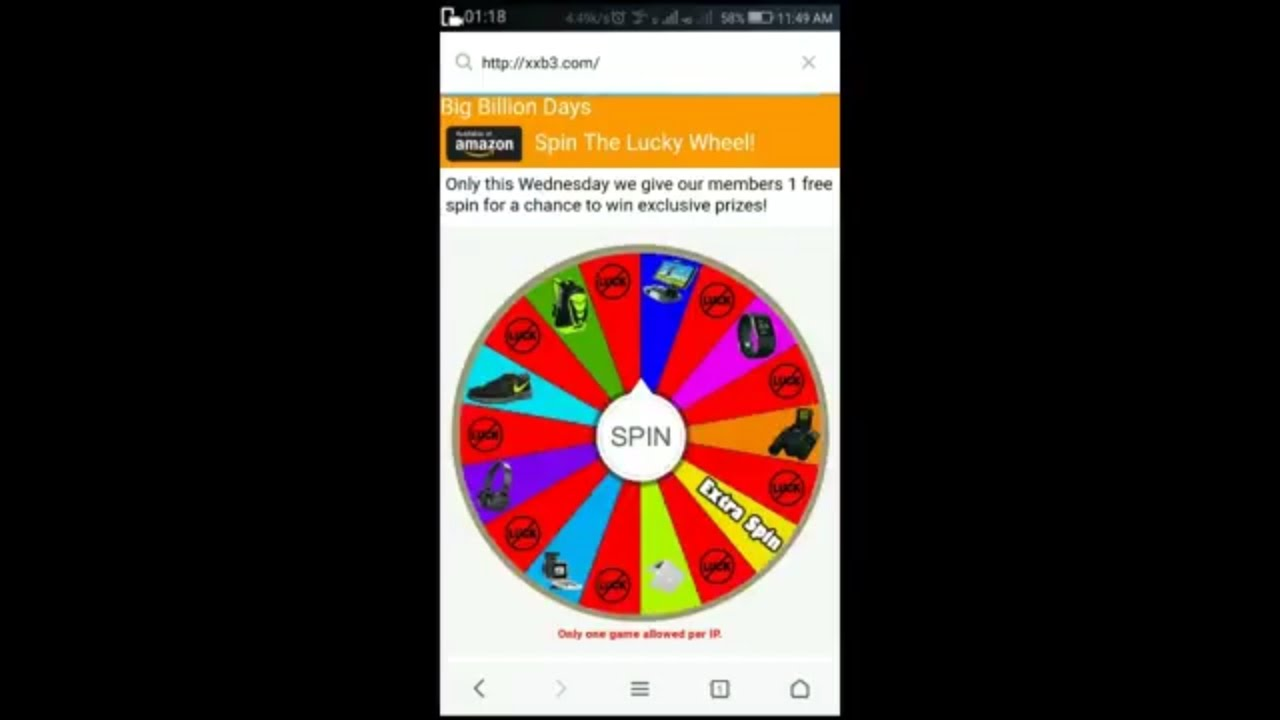 spin wheel and win iphone