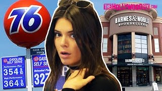 Kendall Jenner Hits The Gas Station And Barnes & Noble Then Has Lunch With Harry Hudson