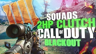 2HP Unbelievable Clutch! - Squads With conpolice & Soltek1h - Call Of Duty: Blackout BR
